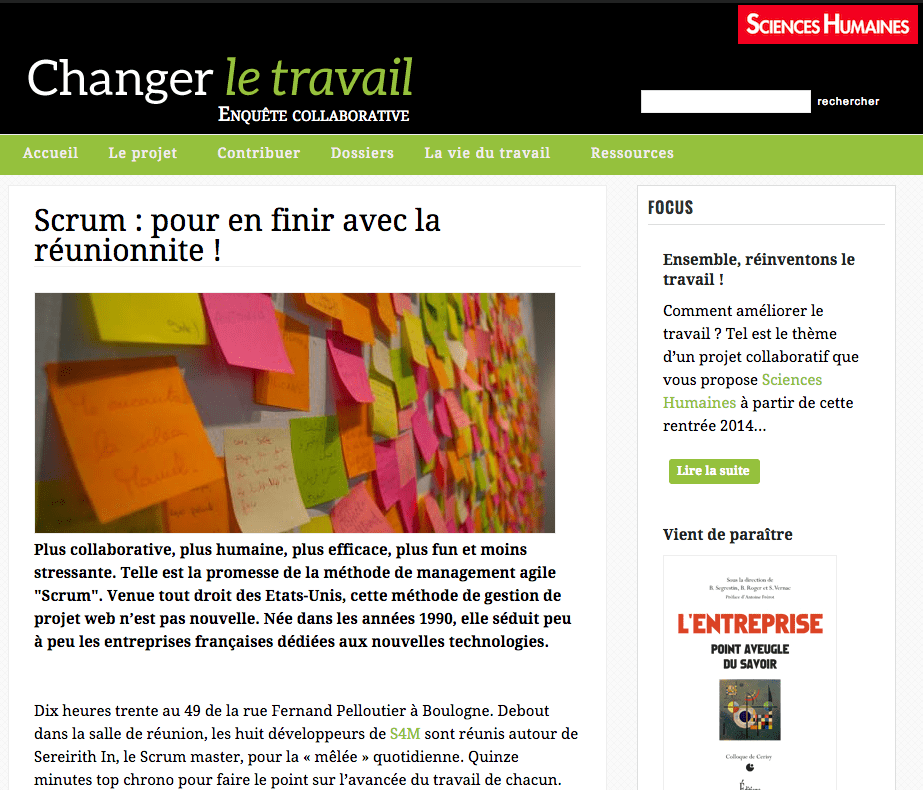 Article - Sciences Humaines - L'Agiliste